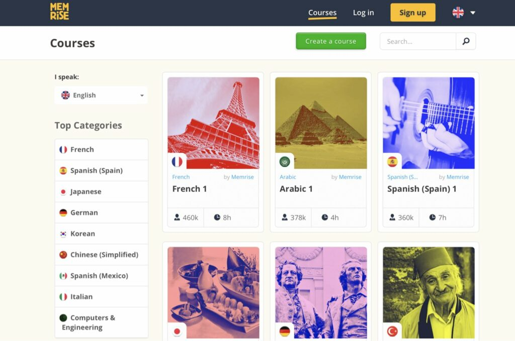 Memrise (Android, iOS, Web)