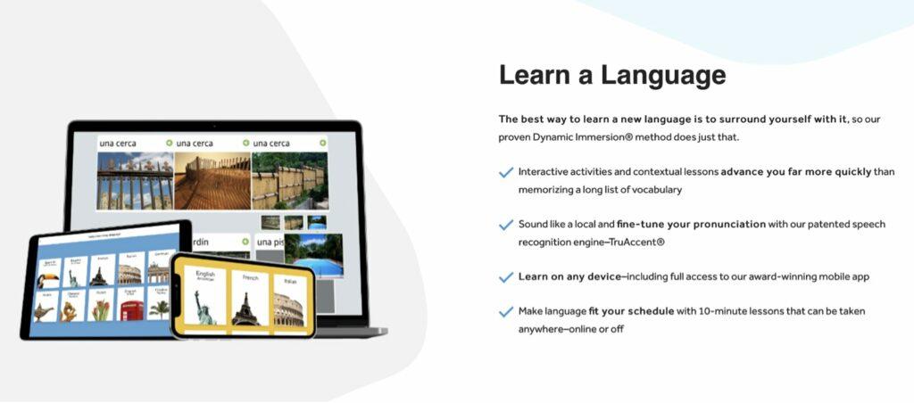 Rosetta Stone (Android, iOS, Web)