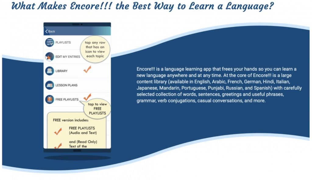 Encore!!! best language learning app in 2020