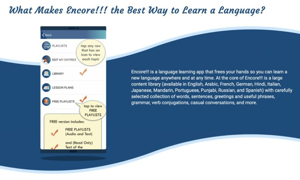 how to learn a hard language with Encore app