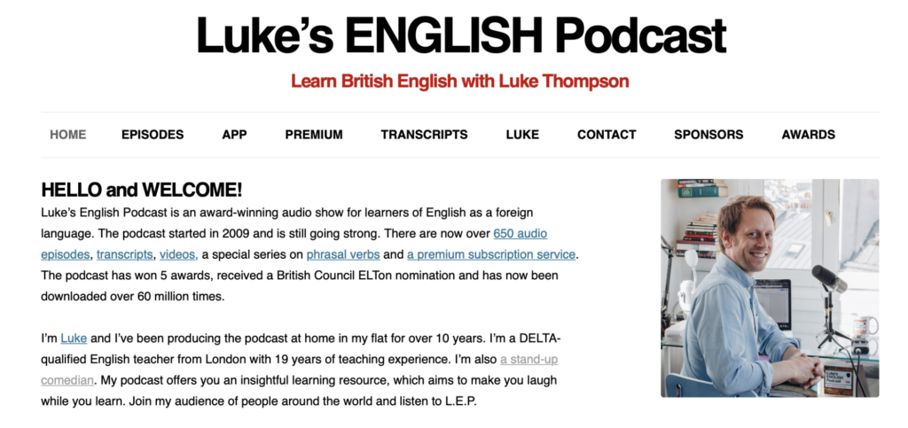 learn English with Luke's English Podcast