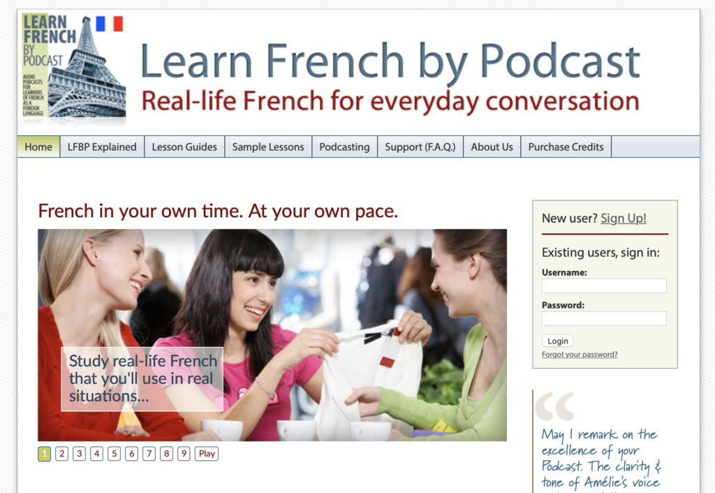 best podcast to learn French