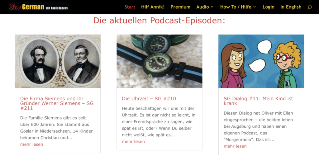 Slow German best podcast to learn German language