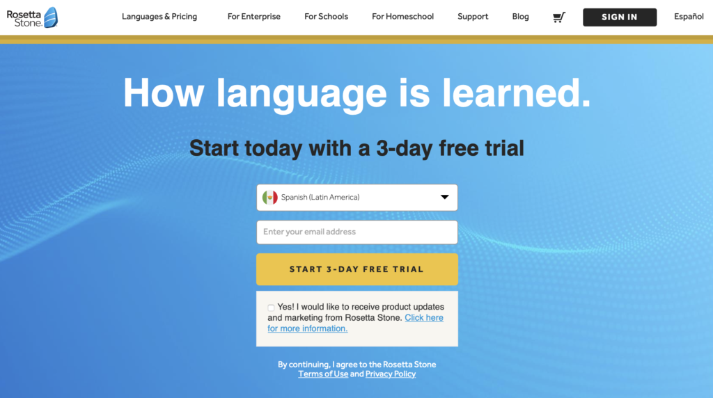 study foreign languages with Rosetta Stone