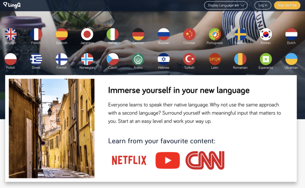 Immerse yourself in your target language with LingQ