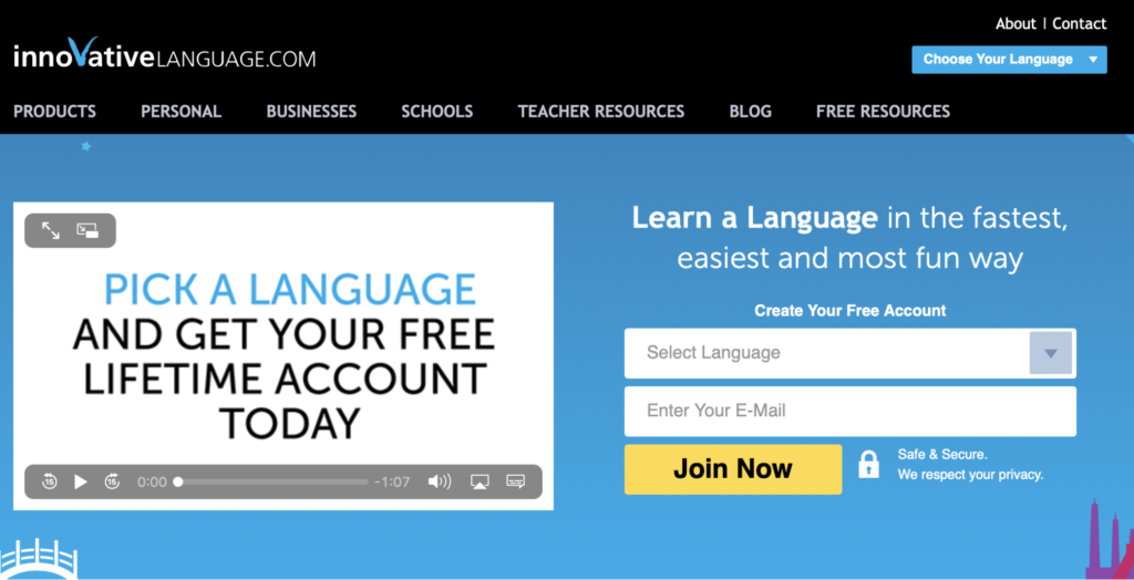 pick the best language learning websites with videos