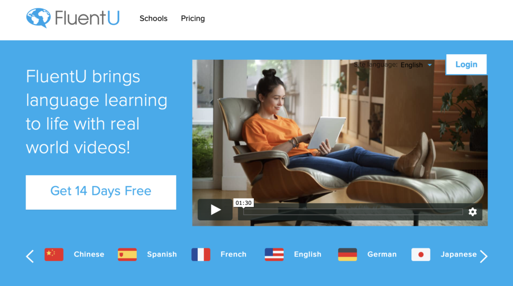 video-based learning experience with FluentU