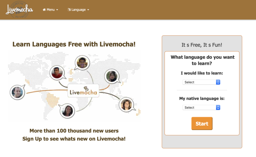 interact with native speakers on Livemocha