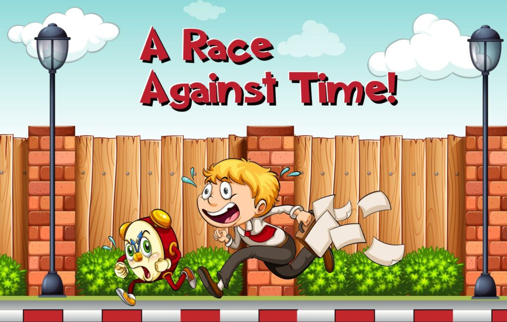 a race against time idiom
