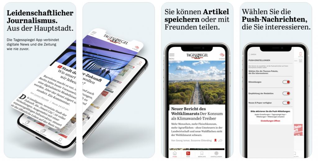 Der Tagesspiegel app to learn German
