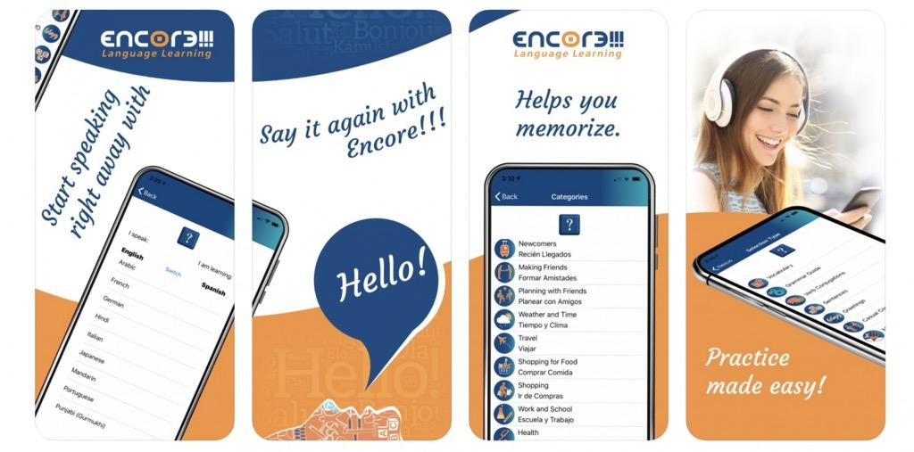 Encore app to facilitate multilingual education
