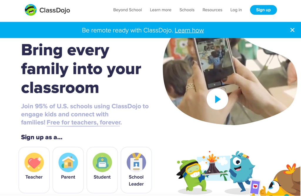 Check on the assignments with ClassDojo