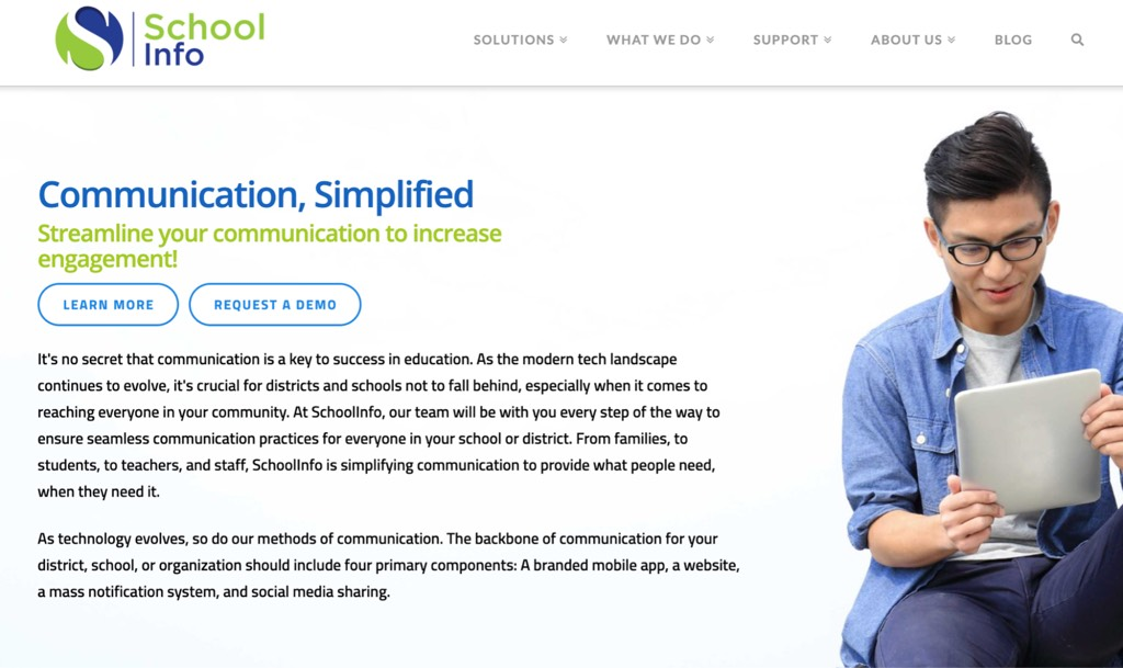 Reach the community with SchoolInfoApp