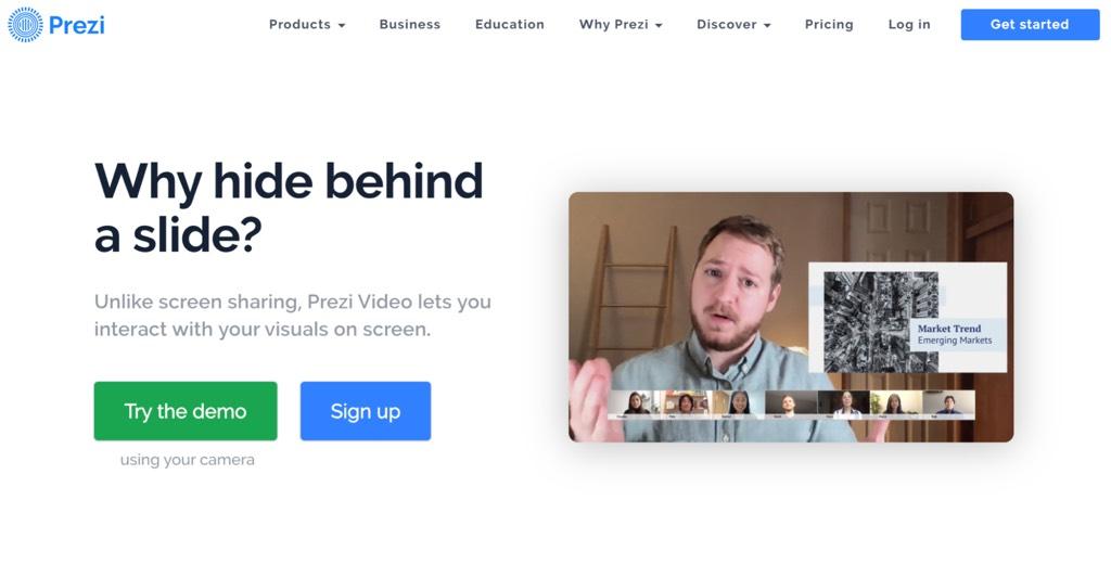 Prezi  classroom app for teachers